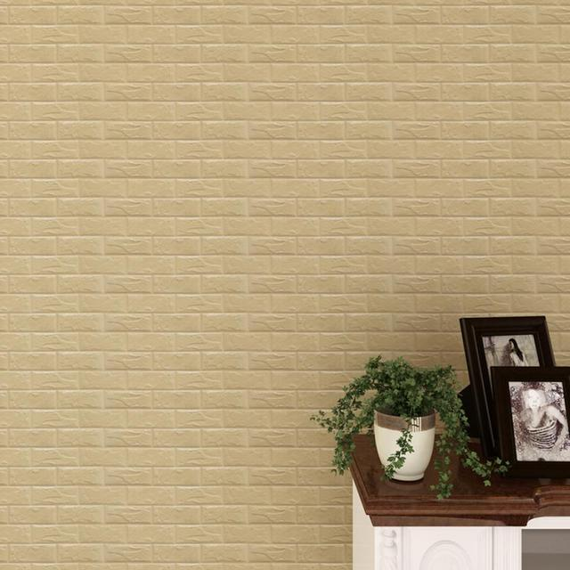 New PE Foam 3D Wallpaper DIY Wall Stickers Wall Decor Embossed Brick ...