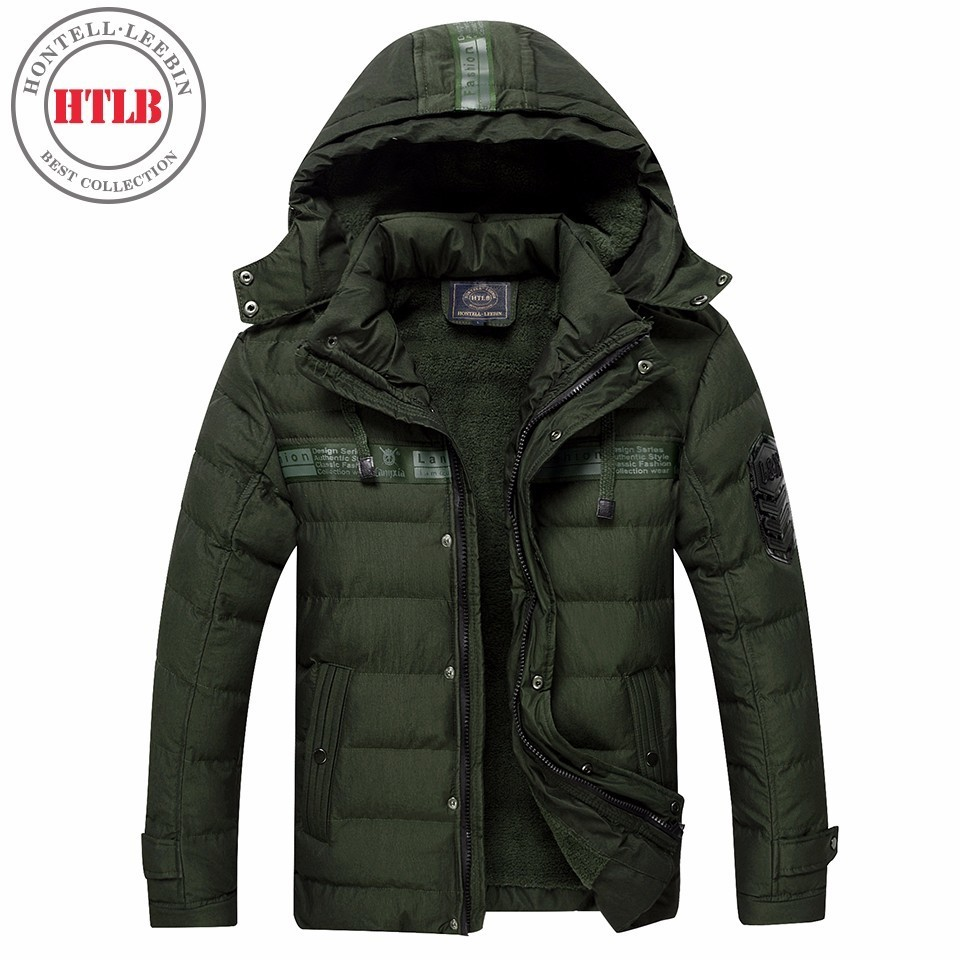 HTLB 2017 Brand New Men Winter Warm Thick Fleece Hooded Jacket Parkas Coat Men Bio Down Autumn Hat Outerwear Parka Men Plus Size 2015 new hot winter thicken warm woman down jacket coat parkas outerwear hooded loose straight luxury brand long plus size xl
