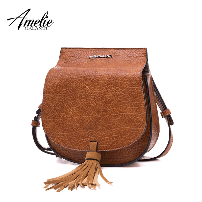 3f074d966b ... BagsAMELIE GALANTI Women s Fashion Saddl Flap Bag Classical Style Small Shoulder  Bag with Tassel Simply Design Crossbody Bag. 49% OFF. Previous