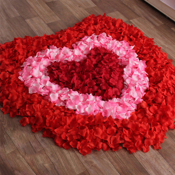 Fashion 2016 New Wholesale 1000pcs/lot Atificial Flowers Polyester Wedding Decorations Wedding Rose Petals patal Flower