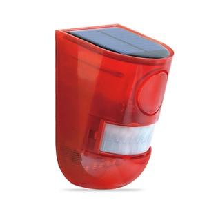 Image 2 - Security Alarm Zonne energie Sirene Met Strobe IP65 Waterdichte 110dB Luide Sirene Ingebouwde PIR Motion Sensor Voor Huis Tuin Outdoor