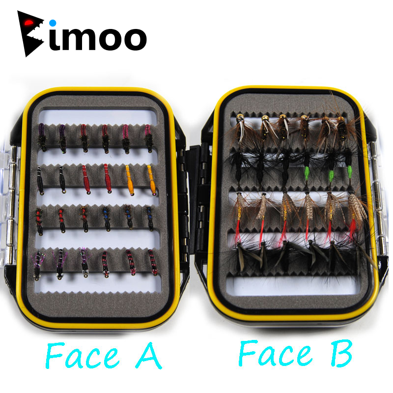 Bimoo 24/48pcs Fly Fishing Lure Dry / Wet Flies Nymph Artificial Pesca Bait Lure For Carp Spring Pesca Tackle / Box