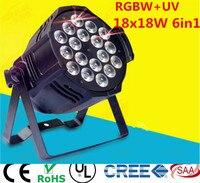 18x18 w 6in1 rgbwa + uv led par işık DJ Par Kutular Alüminyum alaşım dmx 512 ışık dmx dj yıkama aydınlatma sahne ışık
