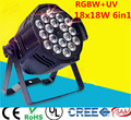 18x18w 6in1 rgbwa+uv  led par light DJ Par Cans  Aluminum alloy Shell