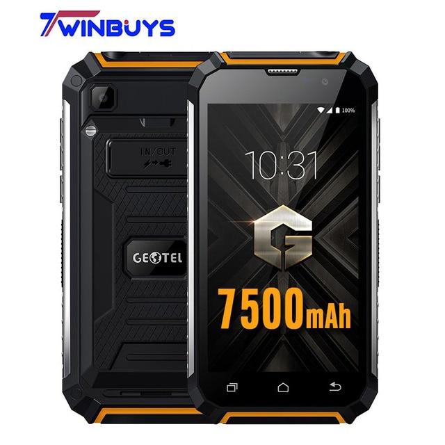 "Original Geotel G1 Smartphone  3G WCDM Android 7.0 Power bank  5.0"" MTK6580A QUAD CORE 2GB RAM+16GB ROM 8MP 7500mAh Mobile Phone"