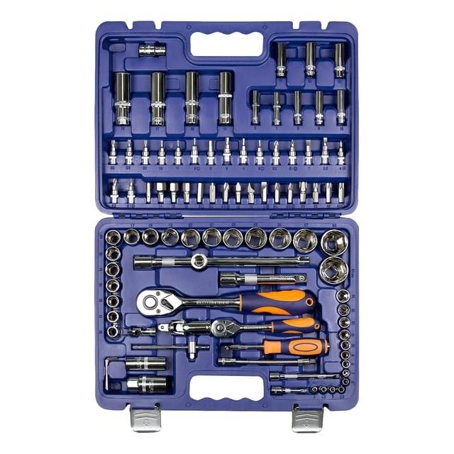 Набор ручного инструмента Helfer HF000011 (94 предмета, 31 головок, 15 бит, 2 свечные головки, кейс)