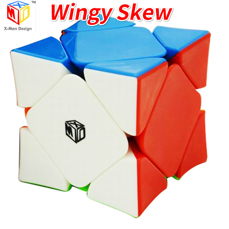 Mofangge Qiyi X-man Wingy Skew Cube Magnetic Concave Stickerless Speed Mofangge Magico Cubes Puzzle Toys For Children