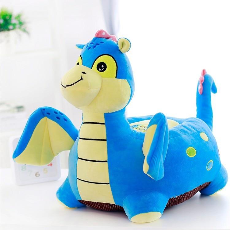 blue cartoon dinosaur plush sofa tatami toy, children's sofa floor seat cushion large 50x45cm 0221 diameter 100cm murakami takashi sunflower plush toy sofa cushion auto accessory free shipping