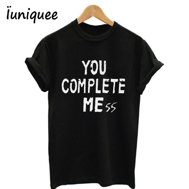 77a60cbcfdb8 You Complete Me five 5 seconds of summer luke hemmings 5sos Tee Shirt  Unisex fashion shirt short sleeve shirt 6 size