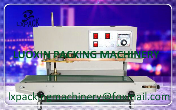 LX-PACK Lowest Factory price Vertical Bags Continuous Sealing Machine Automatic Plastic Film Package Machine Steel Print 220V lx pack brand lowest factory price long hand sealers longer sealing length 20 26 30 40seal width matching film rollers