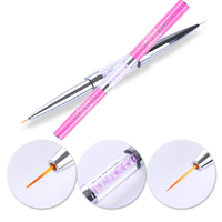 Double-ended Nail Art Liner Brush Ultra-thin Line Drawing Pen Rhinestone Nail Art Manicure Tool   8313549