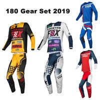 Luckyier Fox 2019 Jersey กางเกง Combo 180 ชุดเกียร์ Motocross ชุด Off-Road Racing MX ATV เสื้อผ้ากางเกงเสื้อ