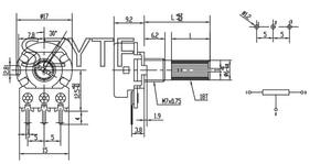 Image 3 - 100 יח\שקית WH148 אחת משותף מגבר פוטנציומטר 10K 20k 50k 100k 500k ..... L: 15MM