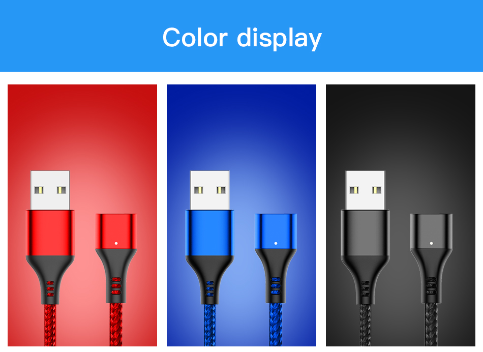 NOHON Magnetic Cable 3A Super Fast Charging For iphone XS MAX XR Micro USB Type C For Samsung Huawei Xiaomi 9 Magnet Data Cables (9)