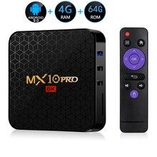 Android 9,0 tv Box MX10 PRO 4 Гб ram 64 Гб 5,8G Wifi Allwinner H6 четырехъядерный USB 3,0 6 K проигрыватель google Youtube Tanix телеприставка