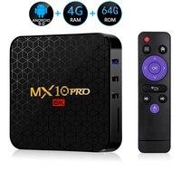 Android 9.0 TV Box MX10 PRO 4GB RAM 64GB Wifi Allwinner H6 Quad Core USB 3.0 6K Google Player Youtube Tanix Set Top Box