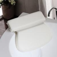 Bath Pillow Round Sponge PU Comfortable Bath Cushion Spa Pillow Bath Headrest Bathtub Pillow Suction Bathtub Pillow