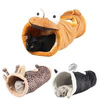 Toys for Cats Folding Channel Dinosaur Giraffe Black Cat Tunnel Pet Cat Bed Small Dog Puppy Kennel Cat Sleeping Bag Warm Nest