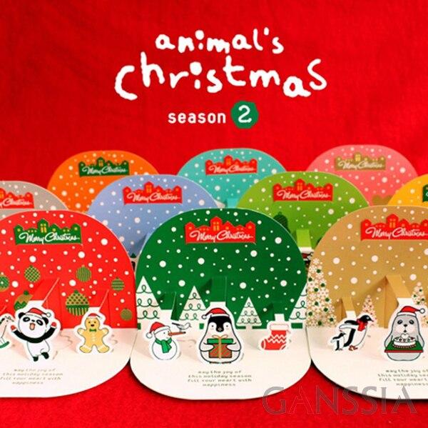 10pcs/set New Cute Snowman Christmas envelope + greeting card + Sticker Kawaii deisgn for stationery school supplies (tt-1902) my snowman activity sticker book