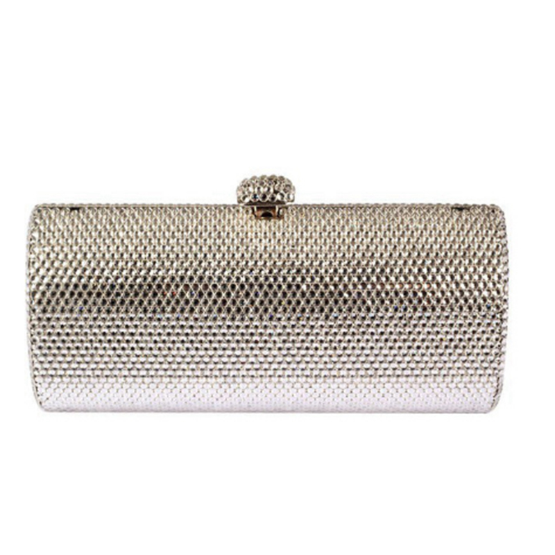 XIYUAN BRAND Luxury Clutch evening pochette purse gold silver plain crystal clutch bag diamond women Clutch party female handbag xiyuan brand mini clutch bags box luxury crystal evening bags party clutch purse gold women wedding bag soiree pochette silver