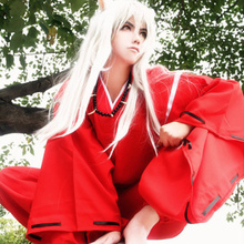 COSPLAYONSEN Anime Inuyasha Red Kimono Men Cosplay Costume Full Set