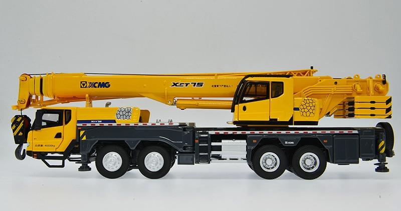 2018 New Launch, 1:50 Scale Model, Diecast Construction Model, XCMG XCT75 Truck Crane Model, Replica, Small tonnage crane 75 ton