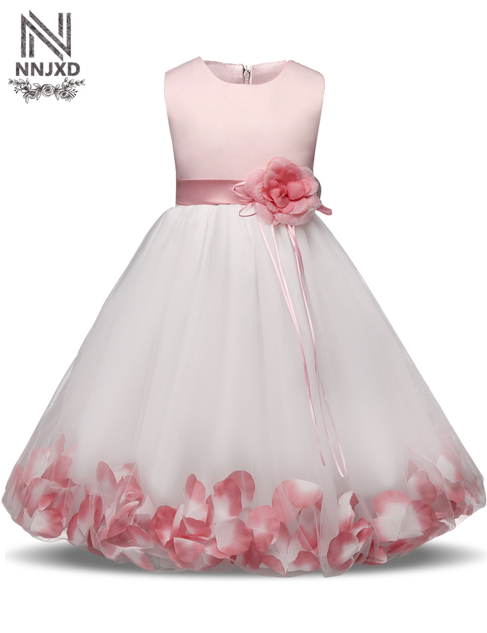 Fairy Petals Baby Girl Christening Wedding Gown Little ...