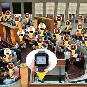 Image 5 - Retekess Restaurant Calling System Call Waiter Service Receiver Host+4 Watch Receiver+Signal Repeater+42 Call Buttons Hookah