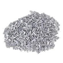 Овальной формы алюминиевые рукава зажимы трос зажим M0.8 Упаковка 1000