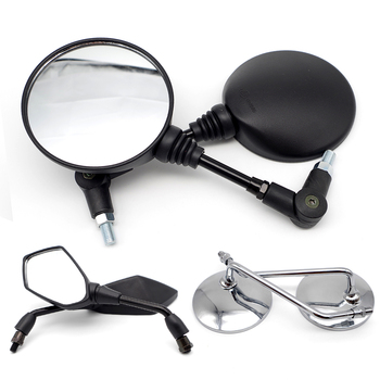 Universal Motorcycle Mirror Rearview Side Mirrors Motor Accessories for aprilia rsv4 rr bmw r1100rt yamaha fz6n honda steed image