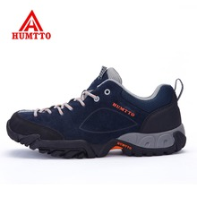 HUMTTO Mens Outdoor Hiking Trekking Hunting Shoes Sneakers For Men Fur Leather Sports Climbing Mountain Outventure Man