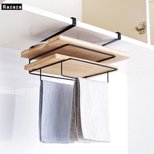 Iron Pot Lid Towel Shelves Racking For Kitchen Organizer shelf Rack Pan Cover Cutting Board Storage Holder Door Tools Accessory
