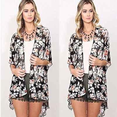 2016 Ethinc Phụ Nữ Mùa Hè Áo Sơ Mi Vintage Floral Print Áo Casual Hippie Boho Kimono Cardigan Ladies Dài Blusas Ngọn