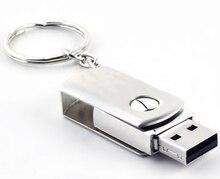 100 teile/los Metall dreh usb-stick 4 gb 8 gb 16 gb 32 gb 64 gb usb-flash-stick stick USB 2.0 U Disk angepasstes logo