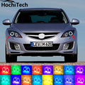 for mazda 6 2007 2008 2009 2010 2011 2012 LED perimeter headlight rings halo Multi-color RGB angel demon eyes