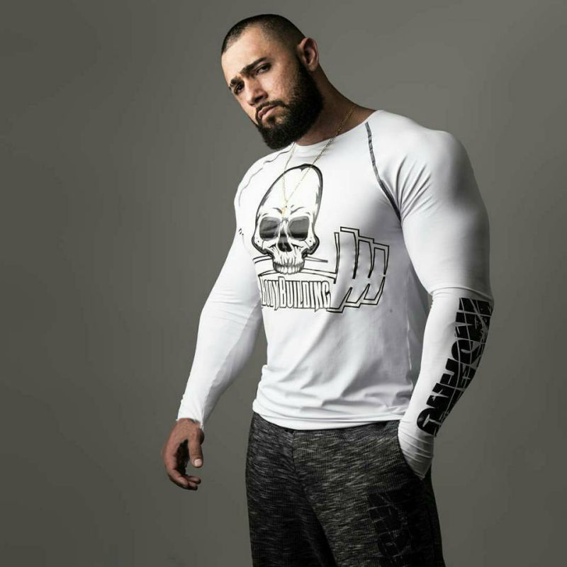 T-shirt Men long Sleeve Fitness T shirt (3)