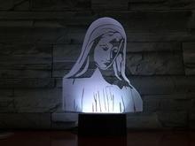Blessed Virgin Mary Figure USB 3d Led Night Light Believer Decorative Lights Mom Mother Gift Bible Cross Desk Lamp Bedroom