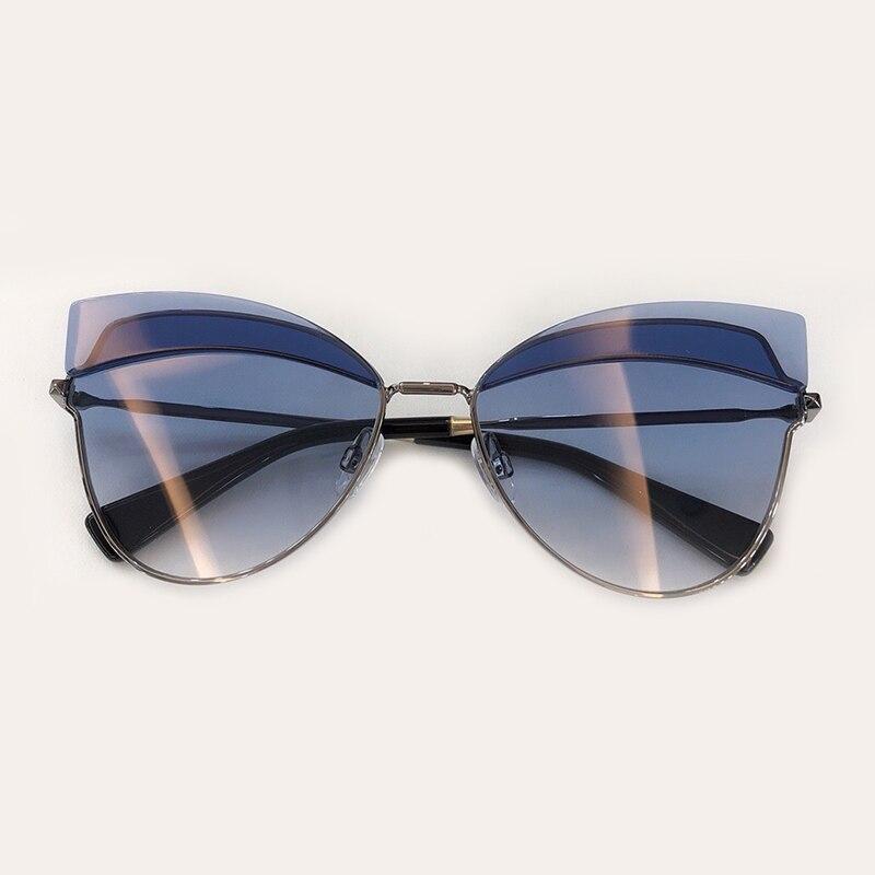High Quality Women Sunglasses 2019 Fashion Luxury Brand Designer Alloy Frame Eyewear Oculos De Sol Feminino