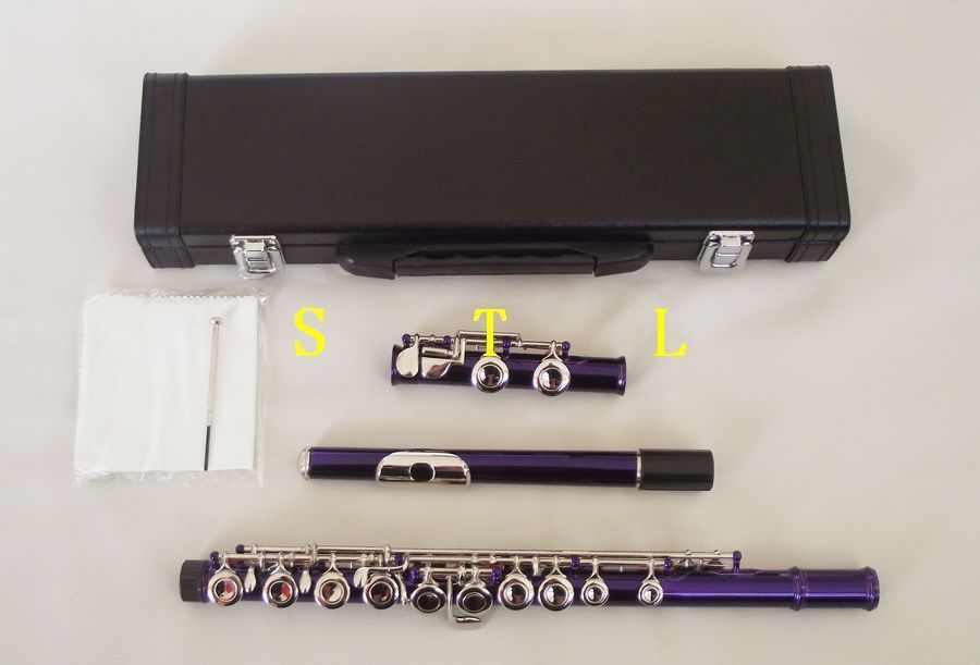 Excellence Color 16 closed hole Purple flute +E +Case C key купить