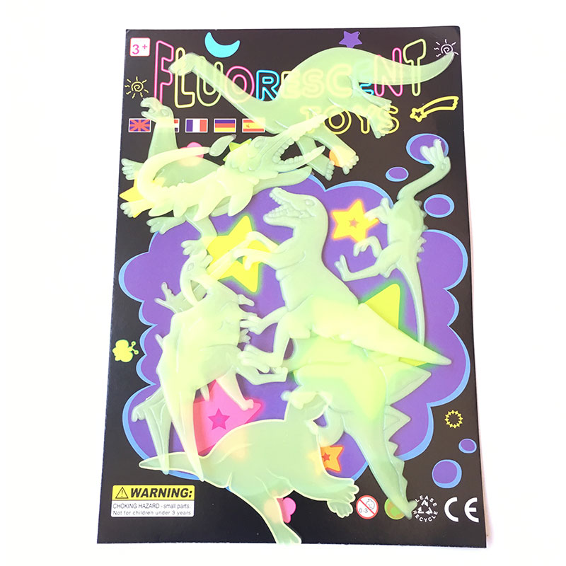 9Pcs Glow In The Dark Dinosaurs Toys Stickers Ceiling Decal Baby Kid Room 5