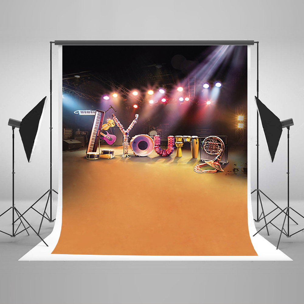 Stage lights background related keywords amp suggestions stage lights - Newborn Photography Background Stage Effects Birthday Photo Background Guitar Musical Instruments Baby Backdrop Photo Studio