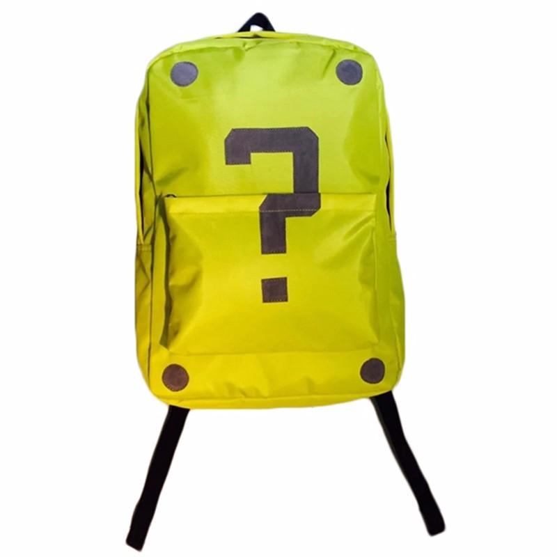 Cute Mochila Super Mario Backpack Children Teenagers Cartoon Girl Plush Bags Kids School Bags Super Mario Bros Printing Backpack (5)