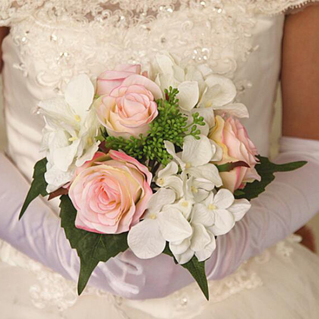 100% New Handmade Mixed Rose Artificial Flowers Bruids Bridesmaid ...