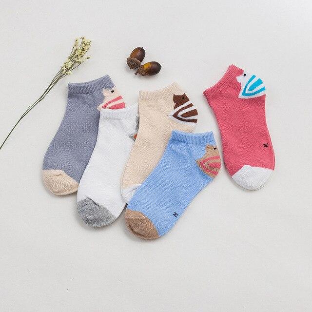 Boys Christmas Socks.Us 4 69 4 12 Years Old Girls Cotton Socks Cute Cartoon Socks For Kids Children S Christmas Socks For Boys Striped Solid Socks For Girls In Socks