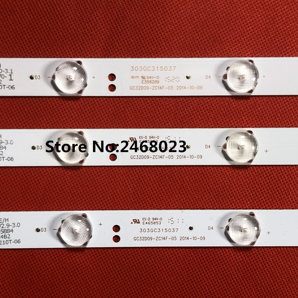 3pcs=1set 62.5CM LED Backlight For Phi Lips 32inch 321E5Q 32PHF3056/T3 GC32D09-ZC14F-05 303GC315037 3v