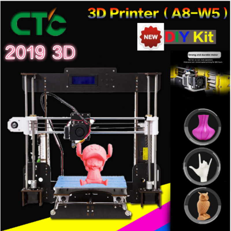 CTC A8 i3 Impresora 3D Printer High Precision Imprimante DIY Kit With Aluminium Extruder Resume Power Failure Printing