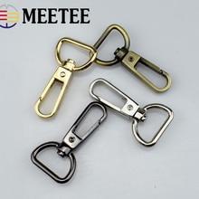 5PCS Meetee 18mm 0.7 Inch Bag Buckle Accessories Metal Luggage  Dog Snap Hook Lobster Clasp DIY Handmade F4-2