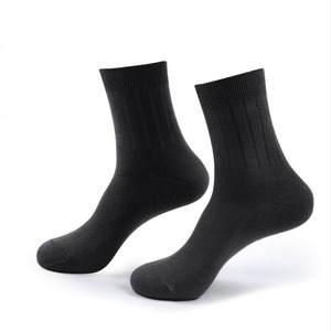 Image 2 - Veridical 5 Pairs/Lot Combed Cotton Business Socks Mans Solid Brand Gentleman Short Work Socks Black Party Dress Long Socks