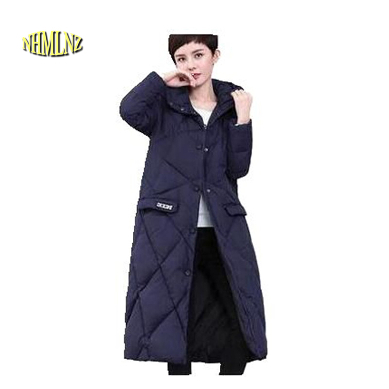 Women Winter Jacket 2017 New Fashion loose Jacket Thick Warm Down cotton jacket Medium length Winter