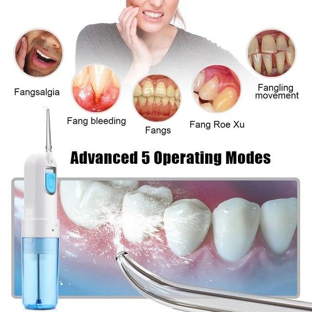 Chargeur portatif pliable dusb de décapant de dents de station thermale de Flosser de leau dirrigateur Oral portatif pour le lavage de bouche et lirrigation nasale
